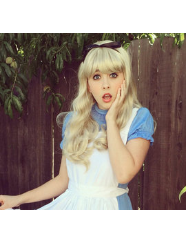 Alice In Wonderland Blonde Bang Wig by Etsy