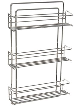 Organize It All 3 Tier Wall Mounted Spice Rack (Chrome) by Organize It All