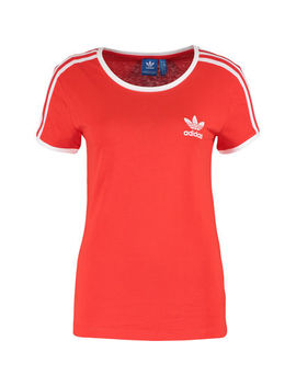 Red Retro Sports Top by Adidas