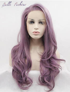 High Quality Glueless Purple High Temperature Heat Resistant Fiber Hair Wig by Etsy