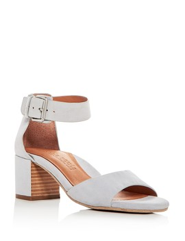 Women's Christa Suede Ankle Strap Block Heel Sandals by Gentle Souls