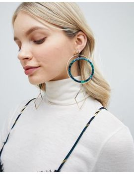 Liars & Lovers Resin Oversized Hoop Statement Earrings by Liars & Lovers