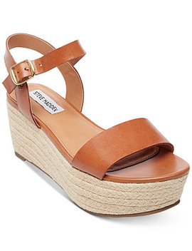 Women's Busy Espadrille Wedge Sandals by Steve Madden