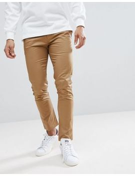 River Island Skinny Fit Chinos In Tan by River Island