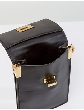 Melie Bianco Vegan Leather Across Body Bag With Contrast Stitched Strap by Bag