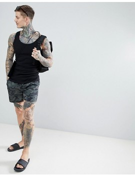 New Look Swim Shorts In Khaki Camo by New Look
