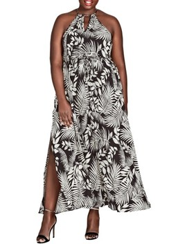 Palm Play Maxi Dress by City Chic
