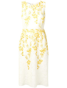 Floral Embroidered Midi Dresshome Women Clothing Cocktail & Party Dresses by Giambattista Valli