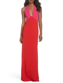 Colorblock Column Gown by Jill Jill Stuart