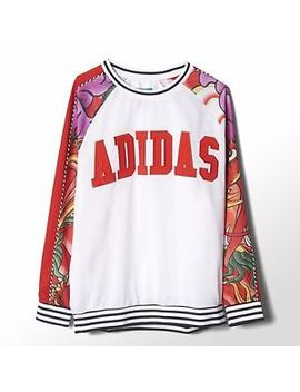 Adidas Rita Ora Originals Dragon Print Sweater Hoodie S23578 Womens Uk 8 10 by Adidas