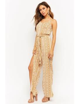 Abstract Print Jumpsuit by F21 Contemporary