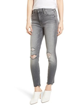 The Looker High Waist Ankle Skinny Jeans by Mother