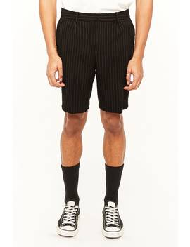 Pinstriped Woven Shorts by Forever 21