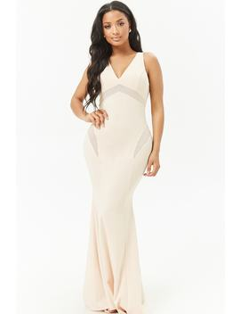 Semi Sheer Prom Dress by Forever 21