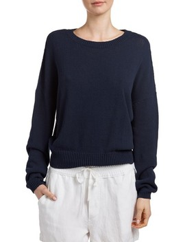 Drop Shoulder Sweater by James Perse