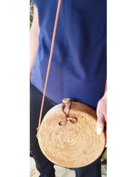 Rattan Round Bag Bali Rattan Bohemian Cross Body Bag Tote Clothing Round Bag Bali Straw Bag Butterfly  Button Women Elegant Fashion by Etsy