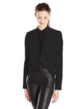 Bcbgmaxazria Women's Llyod Layered Open Blazer Jacket, Black, X Small by Bcbgmaxazria