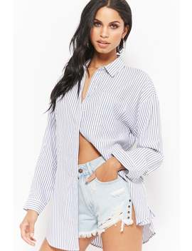 Pinstriped Shirt Dress by F21 Contemporary