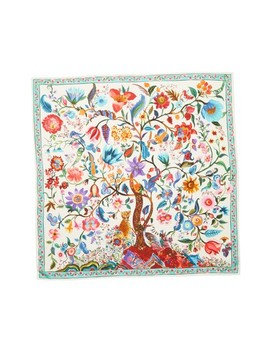 Tree Of Life Silk Foulard Scarf by Salvatore Ferragamo