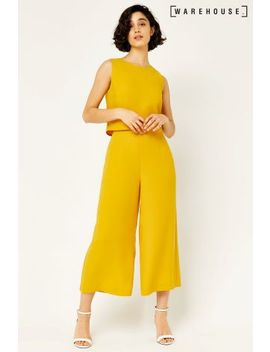 Warehouse Mustard Double Layer Jumpsuit by Next