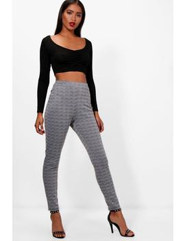 Layla Check Skinny Trouser by Boohoo