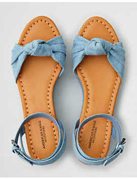 Aeo Knotted Ankle Wrap Flatform by American Eagle Outfitters