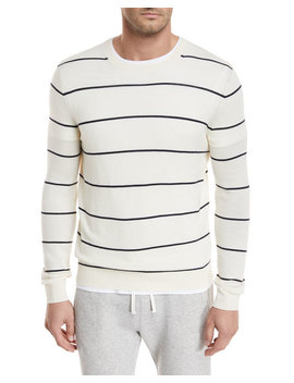 Textured Stripe Crewneck Sweater by Vince