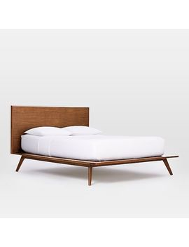 Mid Century Platform Bed Queen, Walnut by West Elm