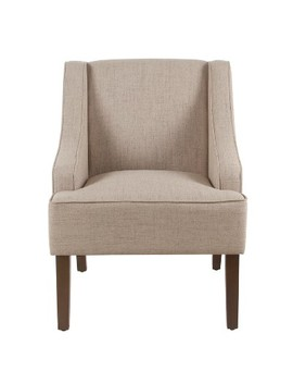 Classic Solid Swoop Arm Accent Chair   Homepop by Home Pop