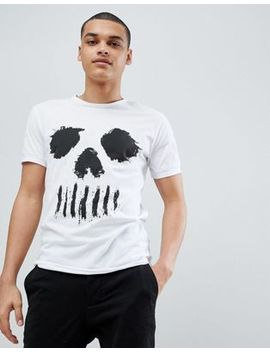 Solid T Shirt With Skull Face by Solid