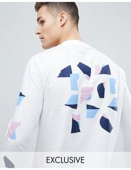 Noak T Shirt With Abastract Print In Long Sleeve by Noak
