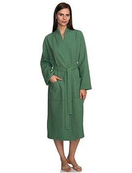 Towel Selections Women's Robe, Kimono Waffle Spa Bathrobe, Made In Turkey by Towel Selections