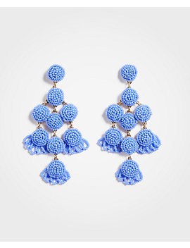 Large Seed Bead Statement Earrings by Ann Taylor