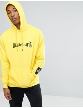 Wasted Paris London Hoodie In Yellow by Wasted Paris