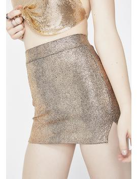 Golden Always Shinin' Mini Skirt by Bear Dance