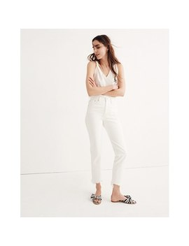 The Tall Perfect Summer Jean In Tile White: Destructed Hem Edition by Madewell