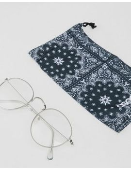Asos Design Round Glasses In Silver Metal With Clear Lens by Asos Design