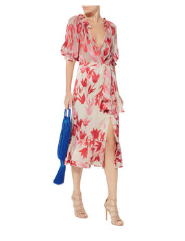 Olivia Floral Midi Dress by Saloni
