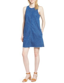 J.Crew Raw Edge Hem Denim Shift Dress by J. Crew