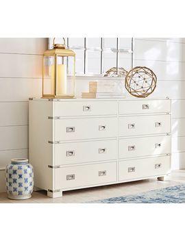 Devon Extra Wide Dresser, Sky White by Pottery Barn