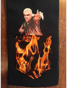 Guy Fieri Flame Print Pocket Tee Shirt S/M/L/Xl/2x/3x Gag Gift Secret Santa White Elephant by Etsy