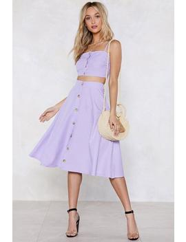 Let's Settle This Gingham Crop Top And Skirt Set by Nasty Gal