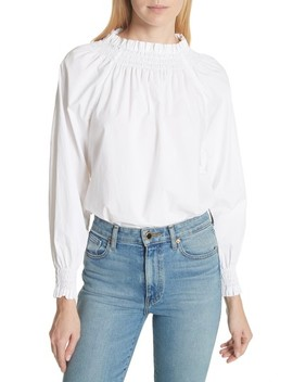 Linen Peplum Top by Frame