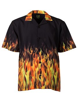 Benny's Red Flames Bowling Shirt by Benny's
