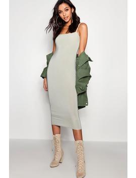 Tall Meg Square Neck Midi Dress by Boohoo