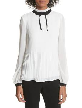 Caryota Tie Neck Blouse by Maje