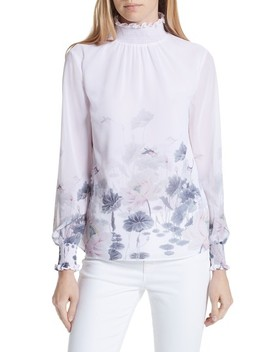 ambba-lake-of-dreams-shirred-blouse by ted-baker-london
