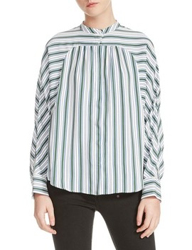 Coquille Stripe Blouse by Maje