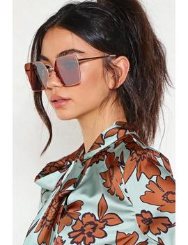Square Play Oversized Shades by Nasty Gal