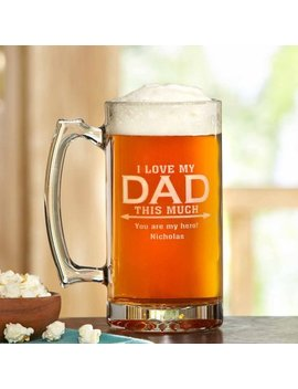 """Love Dad This Much Beer Mug, 25 Oz   """"I"""" by Generic"""
